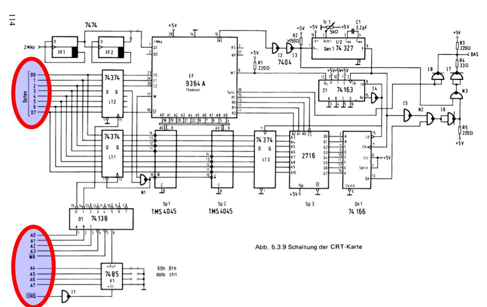 crt card circuit diagram