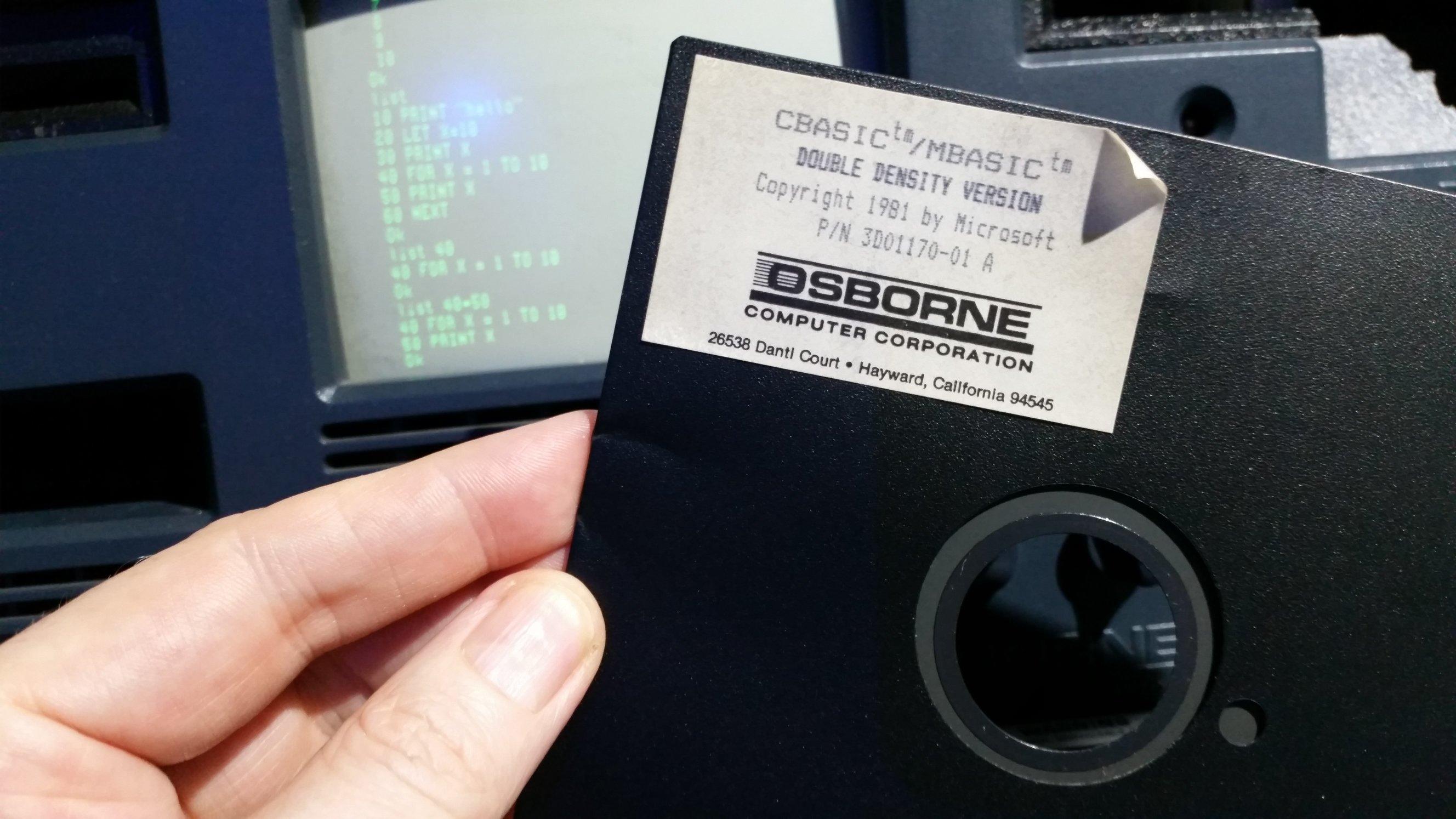 Osborne 1 - Microsoft Basic