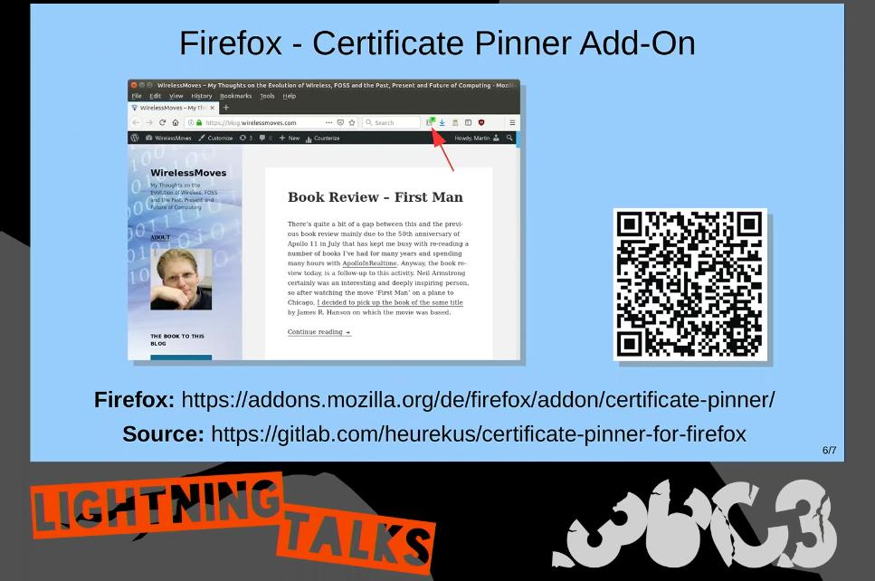 Certificate Pinner Talk Video Screenshot