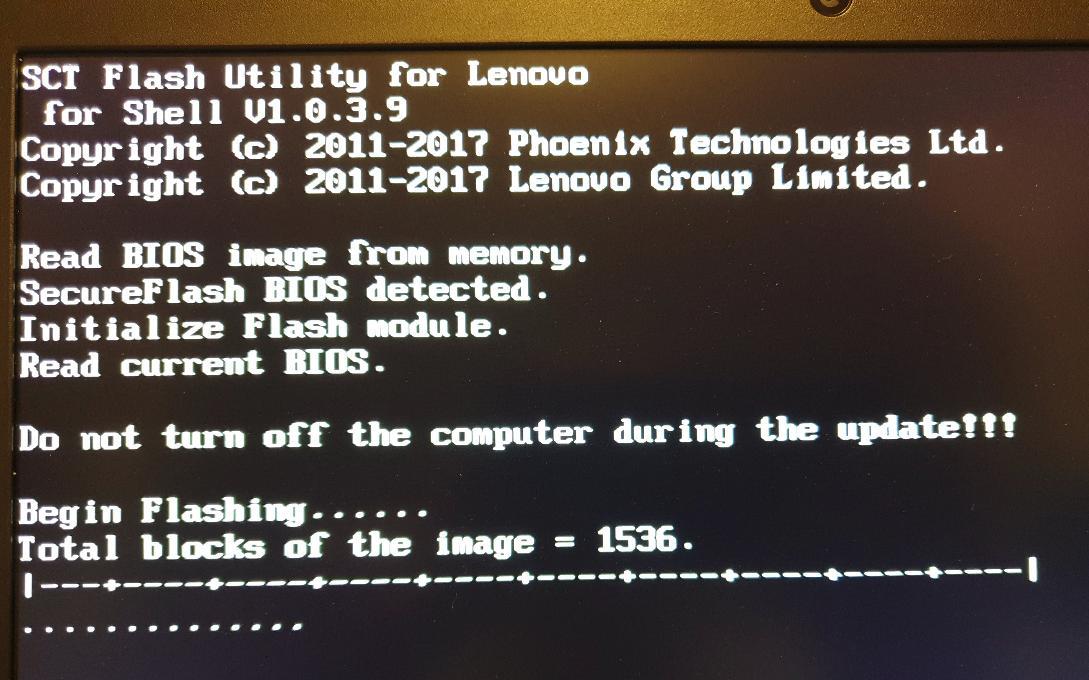 Image: Flashing in progress