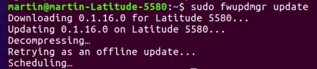 Image: Firmware update in a Linux shell