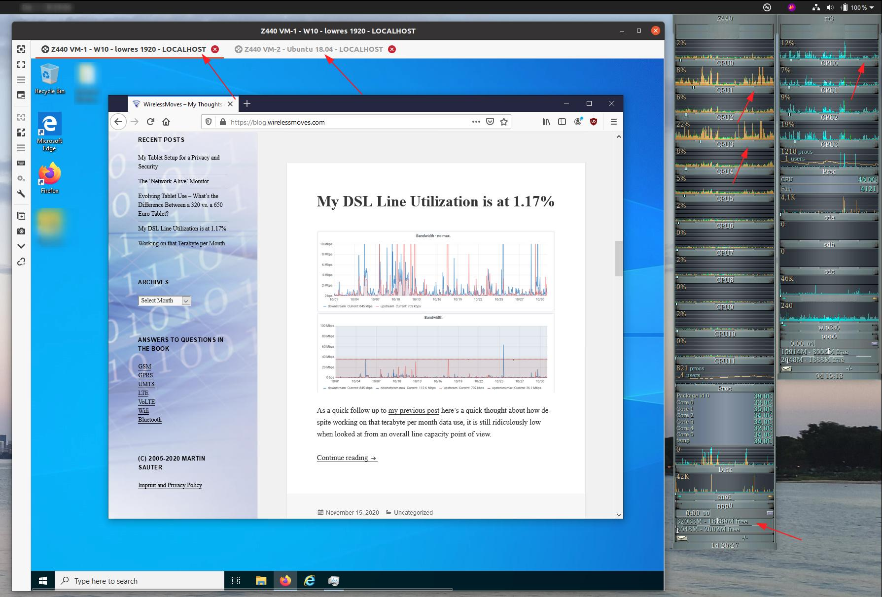 Image: RDP session to a remote VM running Windows 10