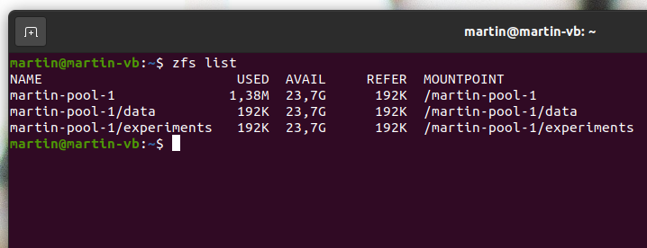 Image: ZFS file systems (datasets)